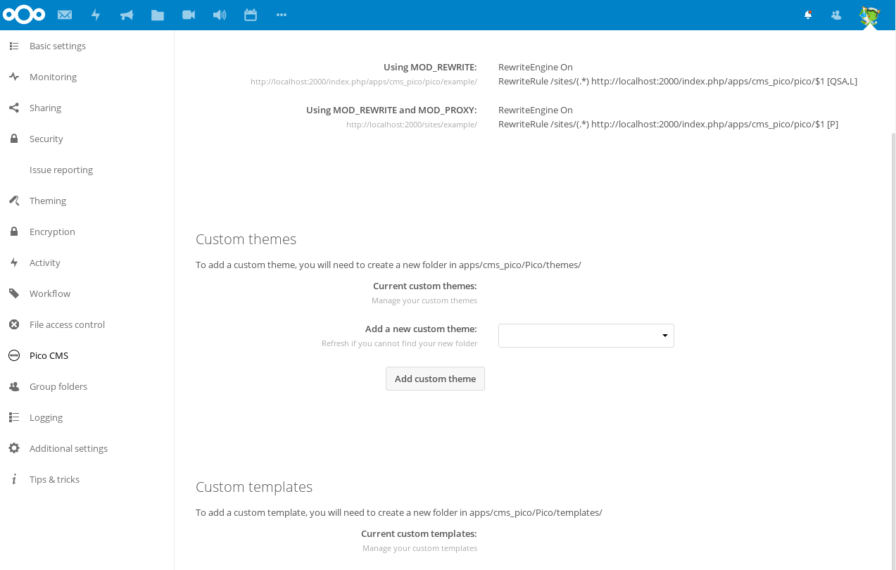 Nextcloud Introduces Easy Website Builder for Education Edition with PicoCMS