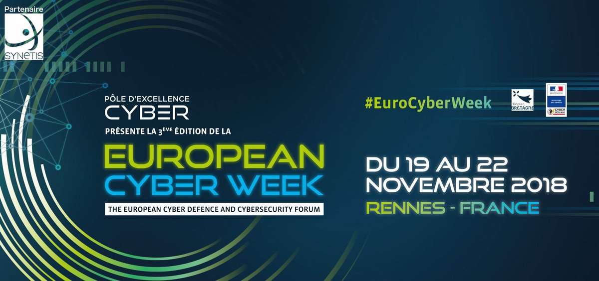 Venez rencontrez nos experts de la #cybersecurite et de l'IA du 19 au 22 novembre au stand #15 de l'#EuroCyberWeek @Hexatrust @atempo @EGERIEsoftware @Bertin_IT @thegreenbow https://www.synetis.com/event/european-cyber-week/ …pic.twitter.com/hSdCl6PCH8